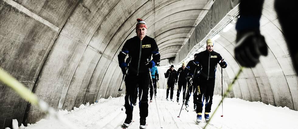 Torsby Ski Tunnel.1,3 km vinterspår i en betongvärld.