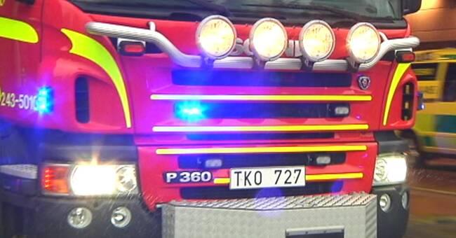 Kvävgas läcker ut på E14 vid avfarten till Ånge – vägen avstängd