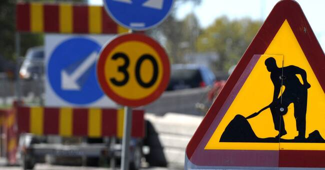 Delar av Göteborgsbacken stängs av under vägarbete