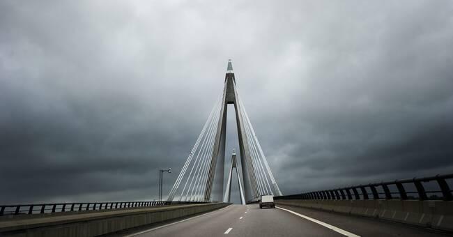 Hårda vindar skapar problem i trafiken