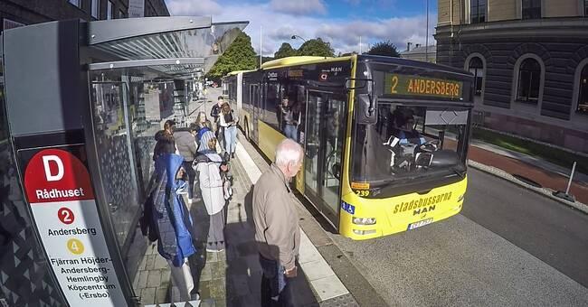 Fria bussresor under julhandeln i Gävle