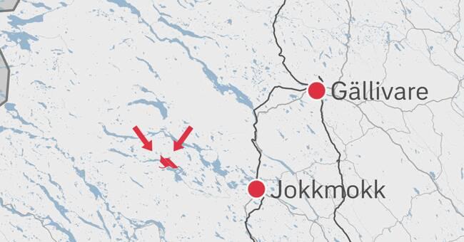 Båt kantrade i Jokkmokksfjällen – polisen söker två personer