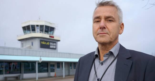 Varsel på Växjös flygplats