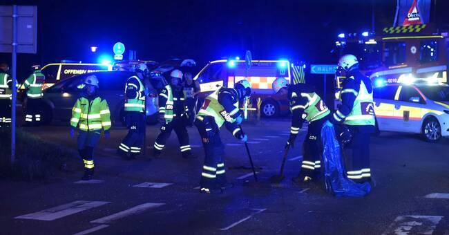Trafikolycka med flera fordon i Staffanstorp