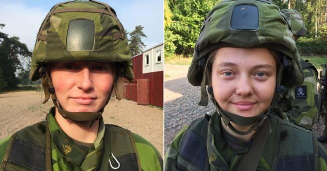 """Två kvinnor om värnplikt i armén: """"Jag tycker det är ett viktigt jobb"""""""