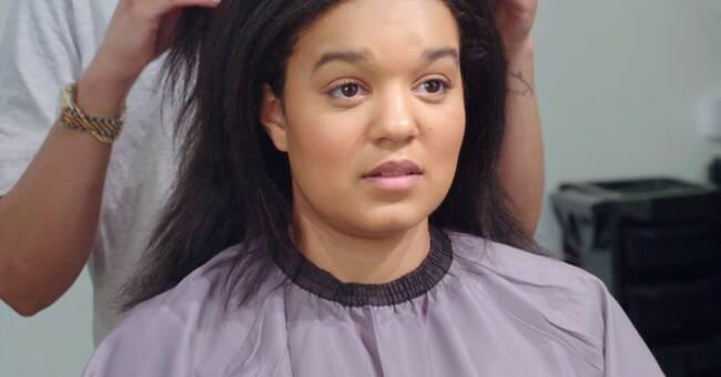 Nora Karltun, 22, har dolt sitt afrohår i tio år