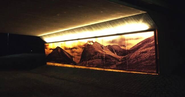 Fjällvärld lyser upp viadukter under nya E10 i Kiruna