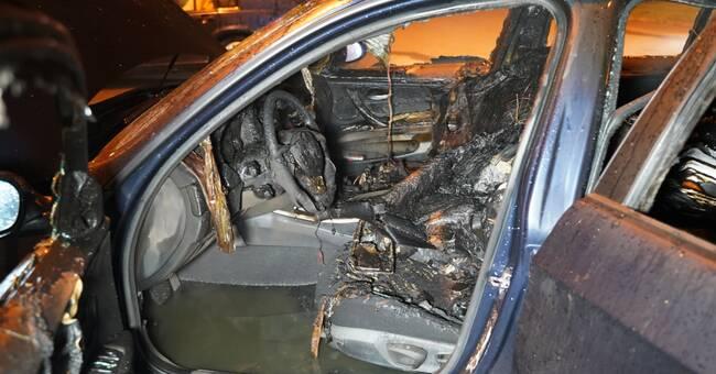 Misstänkt anlagd bilbrand på Bilprovningen i Växjö