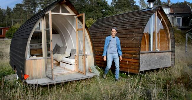"""Han bygger rullande """"kottar"""" i Järna – följ med in i husvagnen"""