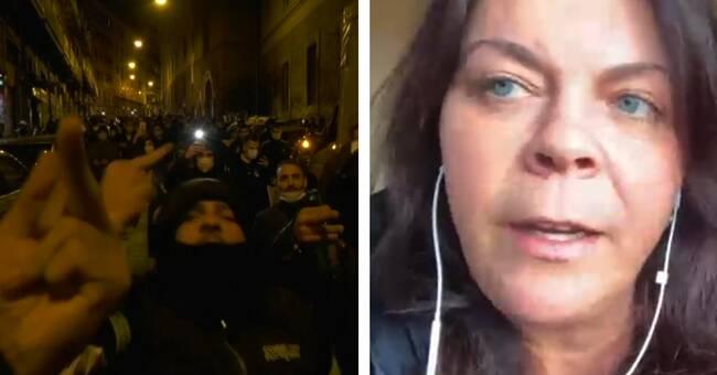 Våldsamma protester i Neapel mot nya coronarestriktioner
