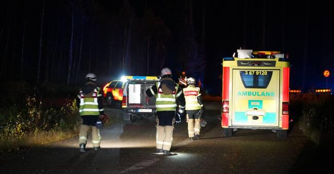 Ung man omkom i trafikolycka i Växjö