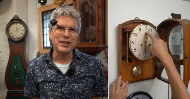 Per-Erik har hundratals klockor – slipper ställa om den äldsta
