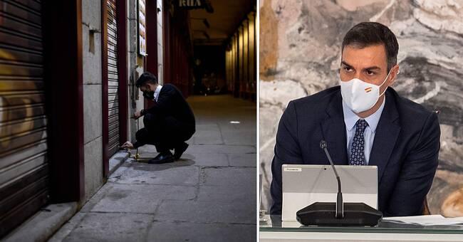 Nationellt nödläge utlyst i Spanien efter virusspridning