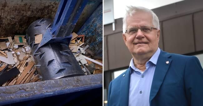 Återvinningsföretag i konkurs – stora mängder avfall kvar i Röfors