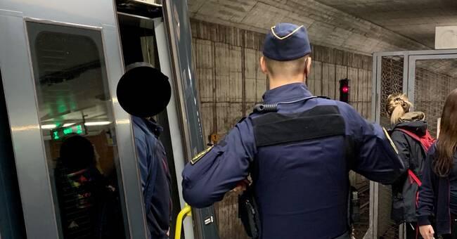 Stopp på tunnelbanans gröna och röda linje