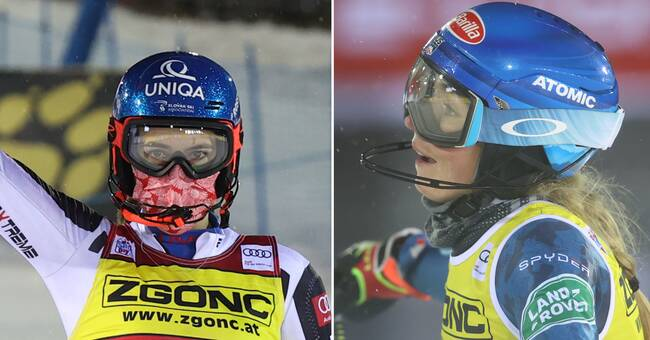 Petra Vlhova vann premiärduellen mot Shiffrin