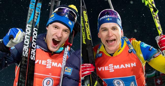 """Dubbelt svenskt på pallen i sprinten: """"Otroligt"""""""