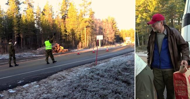 Norska militärer coronabevakargränsen mot Sverige