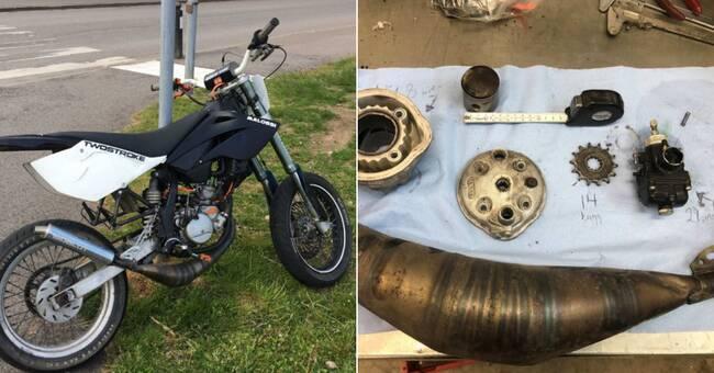 16-åring körde på polis med motorcykel – nu åtalas han