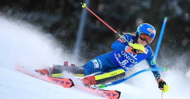 Vintersport: Mikaela Shiffrin etta efter första åket