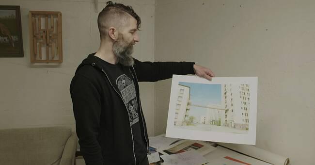 Han är bildkonstnären som gör Umeåmiljöerna ännu mer slitna