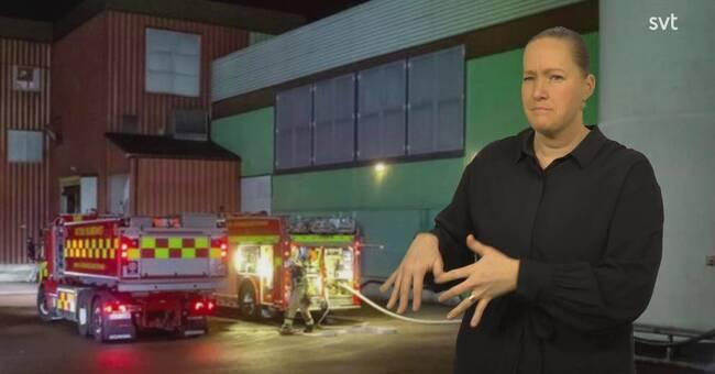 Brand på kexfabrik i Kungälv