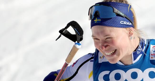 Jonna Sundling gav Piteå SM-guldet i sprintstafetten