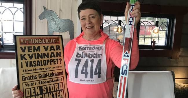 Britt åkte Vasaloppet 1974 – tog nummerlappen när maken blev sjuk