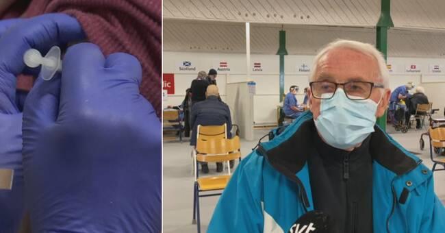 """Vaccinationen igång i Örnsköldsvik: """"Räckt till alla som har kommit"""""""
