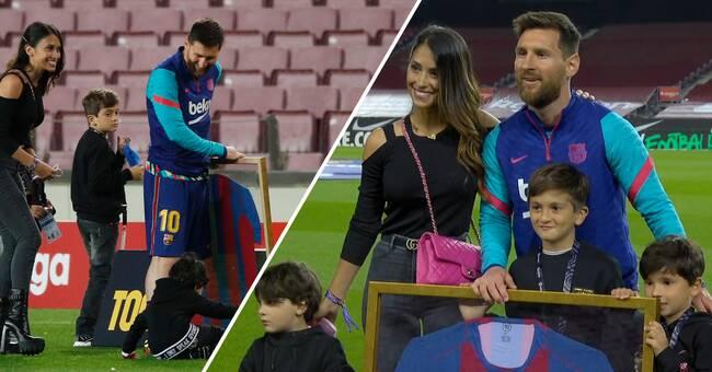 Här hyllas Lionel Messi – har spelat flest matcher i FC Barcelonas historia