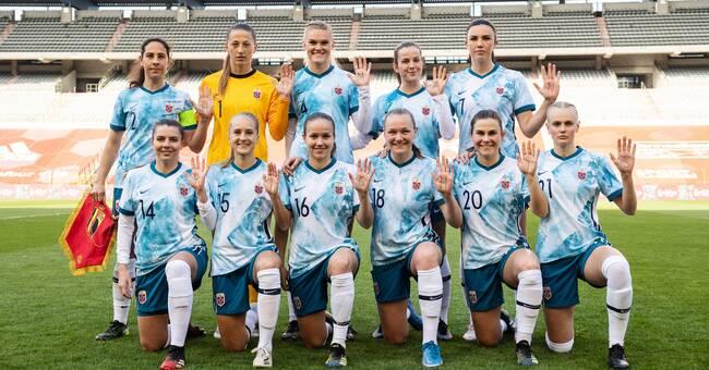 Norska damerna markerade mot Qatar