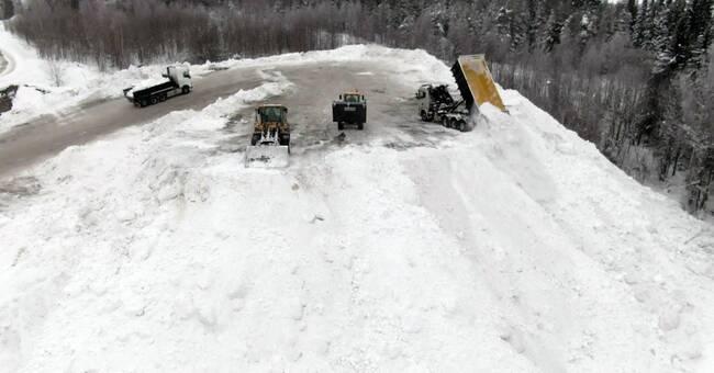 Kraftiga snöandet kostsamt för Umeå kommun – 20 miljoner över budgeten