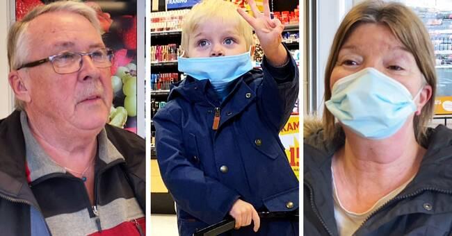 """Boende i Västernorrland om munskydd: """"Vi får aldrig stopp på pandemin annars"""""""