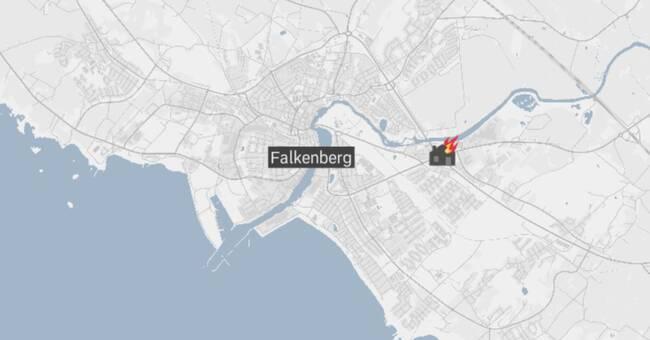 Lägenhetsbrand strax utanför Falkenberg