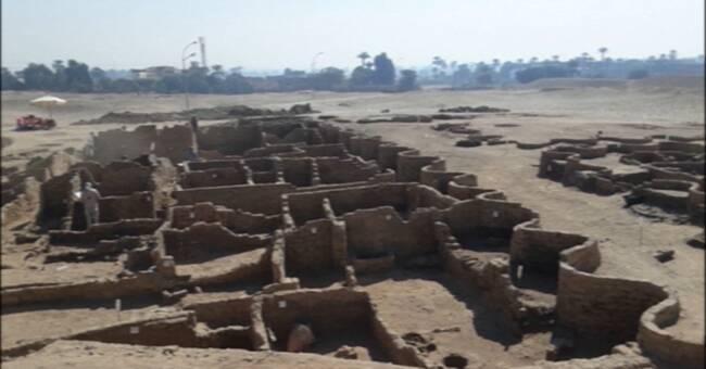 3000 år gammal gyllene stad hittad i Egypten