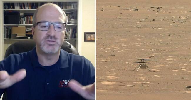 Helikopter redo för första flygningen på Mars