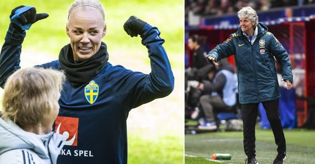Sverige slipper Sundhages Brasilien i OS-gruppspelet
