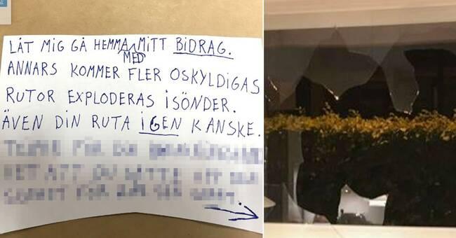 Toppolitiker i Landskrona fick hotbrev och köksfönstret sprängt