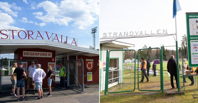 Försiktig optimism i Degerfors och Mallbacken efter publikbesked