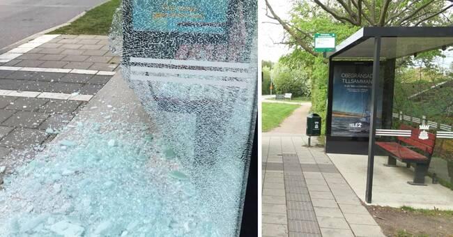 Skadegörelsen ökar på busshållplatser och tågstationer i Skåne