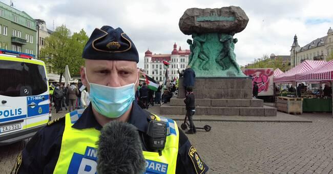 Polisen: Därför upplöste vi inte demonstrationen