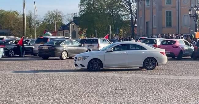 Polis skingrade demonstration i Karlskrona