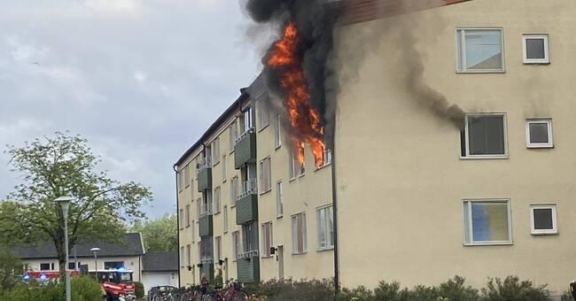 Hoverboard misstänks ligga bakom lägenhetsbrand
