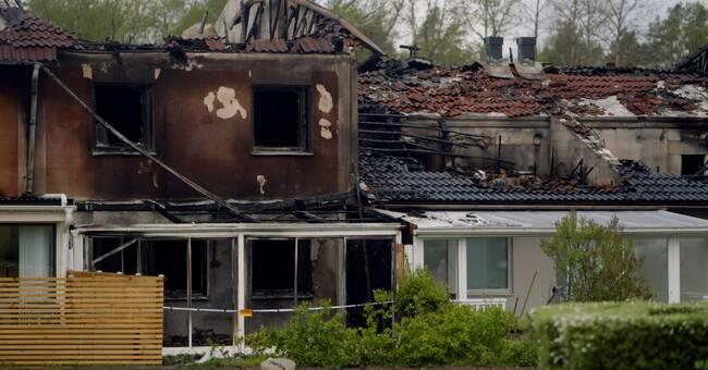Efter radhusbranden: Nu väntar kriminalteknisk undersökning