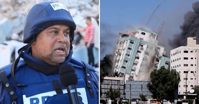 Kritik mot Israel efter bombning av redaktionsbyggnad