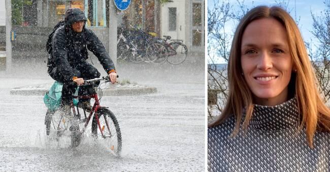 Kraftiga regnskurar på ingång i Halland