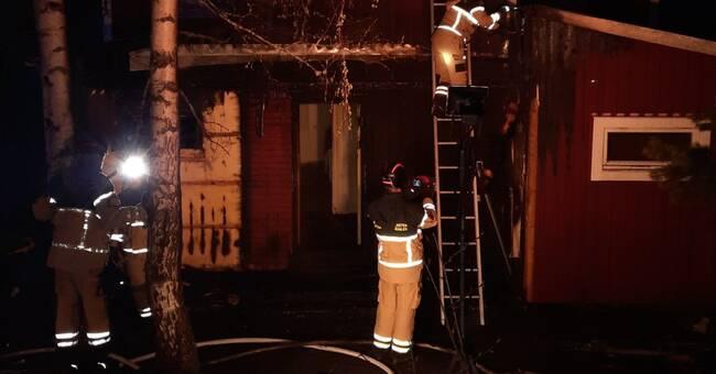 Brand i fastighet i Lo – misstänkt anlagd