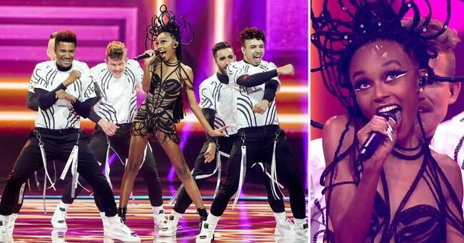Här tar hon den högsta tonen i Eurovisions historia