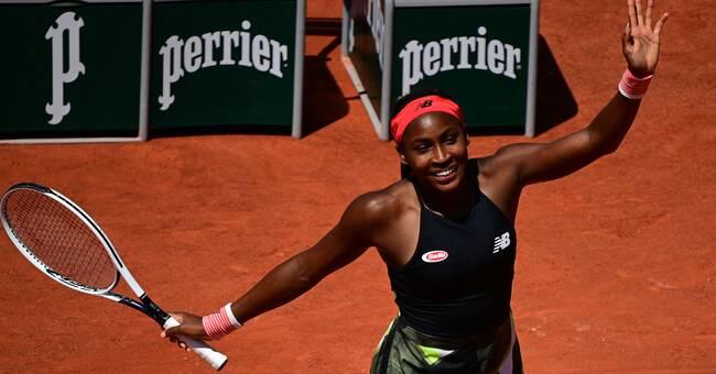 Supertalangen Coco Gauff framme i första Grand Slam-kvartsfinalen