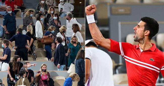 Djokovic till semifinal – men publiken fick inte se det